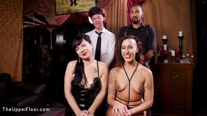 Photo number 27 from Well Trained Anal Sluts Service Folsom Orgy shot for The Upper Floor on Kink.com. Featuring Nikki Darling, Donny Sins and Dee Williams in hardcore BDSM & Fetish porn.