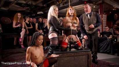 Photo number 3 from The Selfish Anal Slut and The Selfless Electro Servant shot for The Upper Floor on Kink.com. Featuring Aiden Starr, Kira Noir, Ramon Nomar and Penny Pax in hardcore BDSM & Fetish porn.