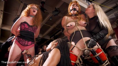 Photo number 6 from The Selfish Anal Slut and The Selfless Electro Servant shot for The Upper Floor on Kink.com. Featuring Aiden Starr, Kira Noir, Ramon Nomar and Penny Pax in hardcore BDSM & Fetish porn.