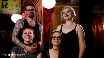 Photo number 26 from BDSM Swinger Orgy Served by the Anal Servant Girls shot for The Upper Floor on Kink.com. Featuring Aiden Starr, Kira Noir, Penny Pax and Ramon Nomar in hardcore BDSM & Fetish porn.