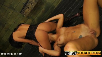 Photo number 18 from Marina Angel Loves Lesbian Domination & Sybian with Esmi Lee shot for Strapon Squad on Kink.com. Featuring Esmi Lee and Marina Angel in hardcore BDSM & Fetish porn.