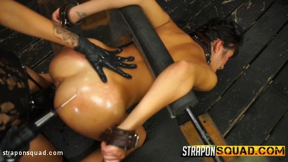 Photo number 8 from Marina Angel Loves Lesbian Domination & Sybian with Esmi Lee shot for Strapon Squad on Kink.com. Featuring Esmi Lee and Marina Angel in hardcore BDSM & Fetish porn.