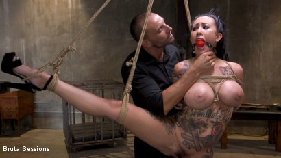Photo number 28 from Squirting Submission: Lily Lane Squirt Fucked In Inescapable Bondage shot for Brutal Sessions on Kink.com. Featuring Lily Lane and Stirling Cooper in hardcore BDSM & Fetish porn.