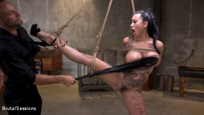 Photo number 5 from Squirting Submission: Lily Lane Squirt Fucked In Inescapable Bondage shot for Brutal Sessions on Kink.com. Featuring Lily Lane and Stirling Cooper in hardcore BDSM & Fetish porn.