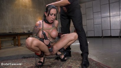 Photo number 10 from Squirting Submission: Lily Lane Squirt Fucked In Inescapable Bondage shot for Brutal Sessions on Kink.com. Featuring Lily Lane and Stirling Cooper in hardcore BDSM & Fetish porn.