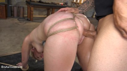 Photo number 14 from Anal Attack: All Natural Blonde Lisey Sweet Ass Fucked in Rope Bondage shot for Brutal Sessions on Kink.com. Featuring Derrick Pierce and Lisey Sweet in hardcore BDSM & Fetish porn.