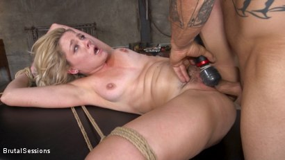 Photo number 26 from Anal Attack: All Natural Blonde Lisey Sweet Ass Fucked in Rope Bondage shot for Brutal Sessions on Kink.com. Featuring Derrick Pierce and Lisey Sweet in hardcore BDSM & Fetish porn.