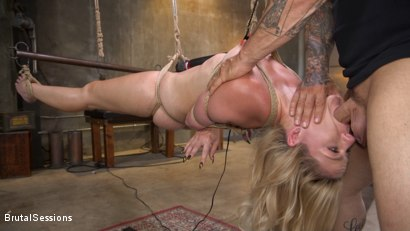 Photo number 6 from Anal Attack: All Natural Blonde Lisey Sweet Ass Fucked in Rope Bondage shot for Brutal Sessions on Kink.com. Featuring Derrick Pierce and Lisey Sweet in hardcore BDSM & Fetish porn.