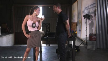 Photo number 2 from Anal Officer shot for Sex And Submission on Kink.com. Featuring Mr. Pete and Krissy Lynn in hardcore BDSM & Fetish porn.