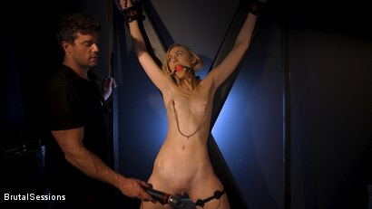 Photo number 2 from Skinny Blonde Slut Alexa Grace in Sadistic Rope Bondage Pussy Fucking! shot for Brutal Sessions on Kink.com. Featuring Ramon Nomar and Alexa Grace in hardcore BDSM & Fetish porn.