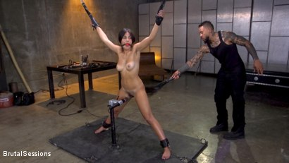 Photo number 2 from New Slut Kendra Spade Bound in Rope, Anally Fucked With Enormous Cock! shot for Brutal Sessions on Kink.com. Featuring Eddie Jaye and Kendra Spade in hardcore BDSM & Fetish porn.