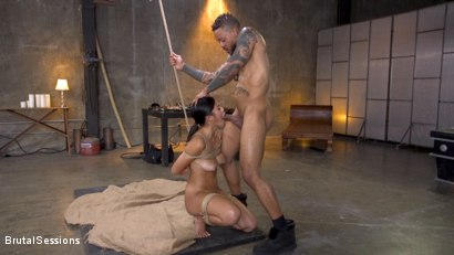 Photo number 5 from New Slut Kendra Spade Bound in Rope, Anally Fucked With Enormous Cock! shot for Brutal Sessions on Kink.com. Featuring Eddie Jaye and Kendra Spade in hardcore BDSM & Fetish porn.