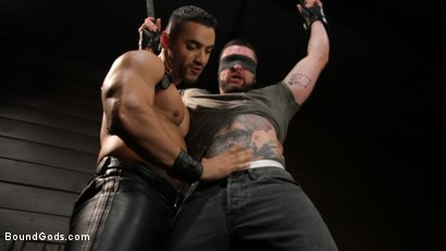 Photo number 1 from Arad, The Manhandler  shot for Bound Gods on Kink.com. Featuring Teddy Bryce and Arad Winwin in hardcore BDSM & Fetish porn.