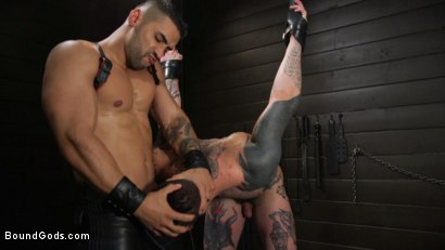 Photo number 12 from Arad, The Manhandler  shot for Bound Gods on Kink.com. Featuring Teddy Bryce and Arad Winwin in hardcore BDSM & Fetish porn.