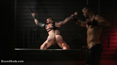 Photo number 17 from Arad, The Manhandler  shot for Bound Gods on Kink.com. Featuring Teddy Bryce and Arad Winwin in hardcore BDSM & Fetish porn.