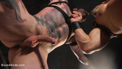 Photo number 22 from Arad, The Manhandler  shot for Bound Gods on Kink.com. Featuring Teddy Bryce and Arad Winwin in hardcore BDSM & Fetish porn.