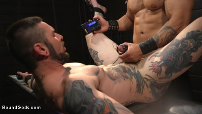 Photo number 28 from Arad, The Manhandler  shot for Bound Gods on Kink.com. Featuring Teddy Bryce and Arad Winwin in hardcore BDSM & Fetish porn.