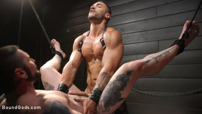 Photo number 30 from Arad, The Manhandler  shot for Bound Gods on Kink.com. Featuring Teddy Bryce and Arad Winwin in hardcore BDSM & Fetish porn.