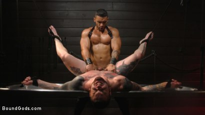 Photo number 34 from Arad, The Manhandler  shot for Bound Gods on Kink.com. Featuring Teddy Bryce and Arad Winwin in hardcore BDSM & Fetish porn.