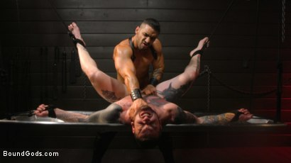 Photo number 36 from Arad, The Manhandler  shot for Bound Gods on Kink.com. Featuring Teddy Bryce and Arad Winwin in hardcore BDSM & Fetish porn.