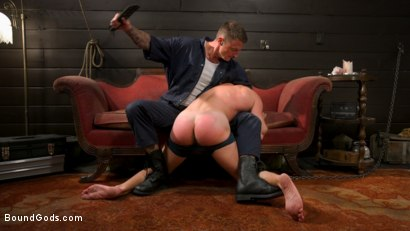 Photo number 9 from Captive slave Alex Hawk submits to Daddy Dane Stewart shot for Bound Gods on Kink.com. Featuring Dane Stewart  and Alex Hawk in hardcore BDSM & Fetish porn.
