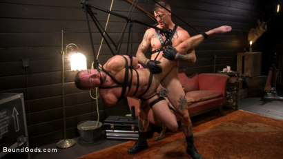 Photo number 18 from Captive slave Alex Hawk submits to Daddy Dane Stewart shot for Bound Gods on Kink.com. Featuring Dane Stewart  and Alex Hawk in hardcore BDSM & Fetish porn.