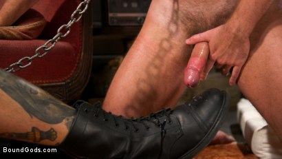 Photo number 22 from Captive slave Alex Hawk submits to Daddy Dane Stewart shot for Bound Gods on Kink.com. Featuring Dane Stewart  and Alex Hawk in hardcore BDSM & Fetish porn.