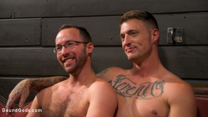 Photo number 23 from Captive slave Alex Hawk submits to Daddy Dane Stewart shot for Bound Gods on Kink.com. Featuring Dane Stewart  and Alex Hawk in hardcore BDSM & Fetish porn.