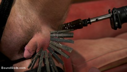 Photo number 3 from Captive slave Alex Hawk submits to Daddy Dane Stewart shot for Bound Gods on Kink.com. Featuring Dane Stewart  and Alex Hawk in hardcore BDSM & Fetish porn.