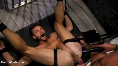 Photo number 12 from Hard Up Hole: Max Adonis gives up holes for protection shot for Bound Gods on Kink.com. Featuring Max Adonis  and Dominic Pacifico in hardcore BDSM & Fetish porn.