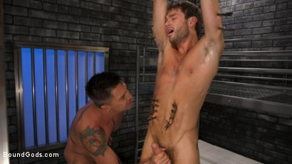Photo number 15 from Hard Up Hole: Max Adonis gives up holes for protection shot for Bound Gods on Kink.com. Featuring Max Adonis  and Dominic Pacifico in hardcore BDSM & Fetish porn.