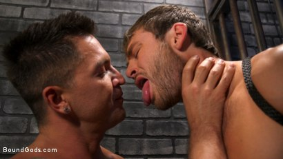 Photo number 7 from Hard Up Hole: Max Adonis gives up holes for protection shot for Bound Gods on Kink.com. Featuring Max Adonis  and Dominic Pacifico in hardcore BDSM & Fetish porn.