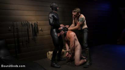 Photo number 1 from The Good Slave: Tough built boy Brian Bonds returns shot for Bound Gods on Kink.com. Featuring Sebastian Keys, Brian Bonds and Mason Lear in hardcore BDSM & Fetish porn.