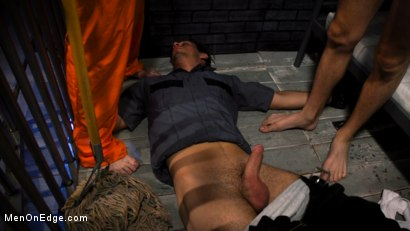 Photo number 2 from BOUND PRISON Part 2: Officer DelRay has his Prisoners on Edge shot for Men On Edge on Kink.com. Featuring Michael DelRay in hardcore BDSM & Fetish porn.