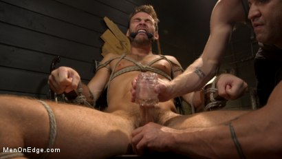 Photo number 9 from In Home Entertainment: Captive Slut Max Adonis Edged, Fucked, Tickled shot for Men On Edge on Kink.com. Featuring Max Adonis in hardcore BDSM & Fetish porn.