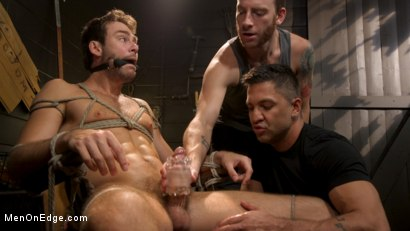 Photo number 13 from In Home Entertainment: Captive Slut Max Adonis Edged, Fucked, Tickled shot for Men On Edge on Kink.com. Featuring Max Adonis in hardcore BDSM & Fetish porn.