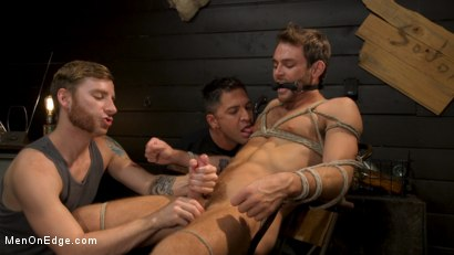 Photo number 17 from In Home Entertainment: Captive Slut Max Adonis Edged, Fucked, Tickled shot for Men On Edge on Kink.com. Featuring Max Adonis in hardcore BDSM & Fetish porn.