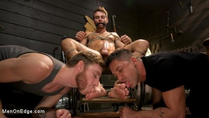 Photo number 4 from In Home Entertainment: Captive Slut Max Adonis Edged, Fucked, Tickled shot for Men On Edge on Kink.com. Featuring Max Adonis in hardcore BDSM & Fetish porn.