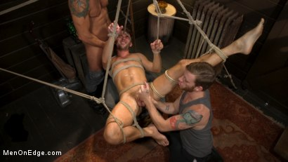 Photo number 12 from In Home Entertainment: Captive Slut Max Adonis Edged, Fucked, Tickled shot for Men On Edge on Kink.com. Featuring Max Adonis in hardcore BDSM & Fetish porn.