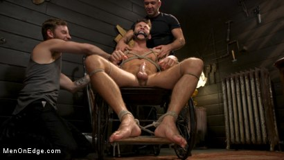 Photo number 15 from In Home Entertainment: Captive Slut Max Adonis Edged, Fucked, Tickled shot for Men On Edge on Kink.com. Featuring Max Adonis in hardcore BDSM & Fetish porn.