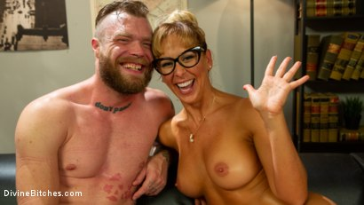Photo number 15 from Executive Discipline: Cherie DeVille Humiliates Her Boss Mike Panic shot for Divine Bitches on Kink.com. Featuring Cherie DeVille and Mike Panic in hardcore BDSM & Fetish porn.