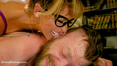 Photo number 3 from Executive Discipline: Cherie DeVille Humiliates Her Boss Mike Panic shot for Divine Bitches on Kink.com. Featuring Cherie DeVille and Mike Panic in hardcore BDSM & Fetish porn.