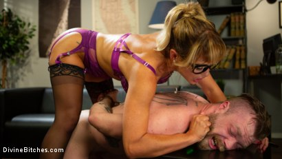 Photo number 4 from Executive Discipline: Cherie DeVille Humiliates Her Boss Mike Panic shot for Divine Bitches on Kink.com. Featuring Cherie DeVille and Mike Panic in hardcore BDSM & Fetish porn.