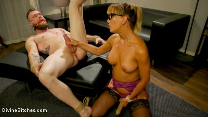 Photo number 5 from Executive Discipline: Cherie DeVille Humiliates Her Boss Mike Panic shot for Divine Bitches on Kink.com. Featuring Cherie DeVille and Mike Panic in hardcore BDSM & Fetish porn.