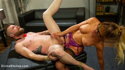 Photo number 7 from Executive Discipline: Cherie DeVille Humiliates Her Boss Mike Panic shot for Divine Bitches on Kink.com. Featuring Cherie DeVille and Mike Panic in hardcore BDSM & Fetish porn.