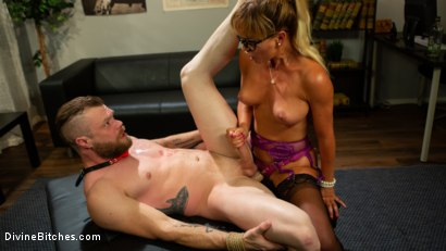 Photo number 6 from Executive Discipline: Cherie DeVille Humiliates Her Boss Mike Panic shot for Divine Bitches on Kink.com. Featuring Cherie DeVille and Mike Panic in hardcore BDSM & Fetish porn.