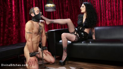 Photo number 1 from Bad Boy Toy shot for Divine Bitches on Kink.com. Featuring Arabelle Raphael and DJ in hardcore BDSM & Fetish porn.
