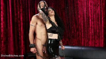 Photo number 5 from Bad Boy Toy shot for Divine Bitches on Kink.com. Featuring Arabelle Raphael and DJ in hardcore BDSM & Fetish porn.