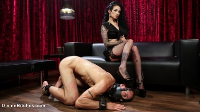 Photo number 11 from Bad Boy Toy shot for Divine Bitches on Kink.com. Featuring Arabelle Raphael and DJ in hardcore BDSM & Fetish porn.