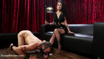 Photo number 12 from Bad Boy Toy shot for Divine Bitches on Kink.com. Featuring Arabelle Raphael and DJ in hardcore BDSM & Fetish porn.